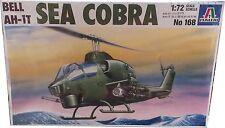Italeri Bell AH-1T Sea Cobra Model Kit Ref 168 Escala 1:72, Nuevo