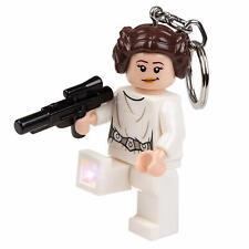LEGO Star Wars Princess Leia with Blaster LED Lite Key Chain Ring Light NEW