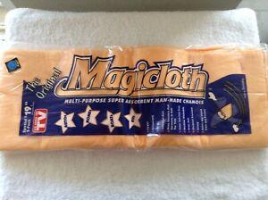Original Magicloth Multi-Purpose Super Absorbent Man-Made Chamois Rare 2 Pack