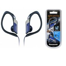 Panasonic RP-HS34-A Headphones Clip-On Sports Hook Water-Resistant RPHS34 Blue