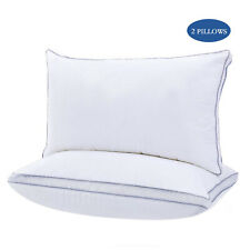 2 Pack Bed Pillow Queen Soft Down Feather Sleeping Cotton Pillows 100% Polyester