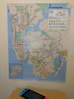 "Subway Map Poster 2019 - Updated With 2nd Ave Subway Line - Size 22"" x 28"""