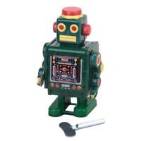 Vintage Retro Style Robot Model Tin Toy Wind-up Key Collectible Adult Toys New