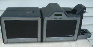 HID Fargo HDPii Plus Dual Side Color ID Card Printer w/Output Module AS IS