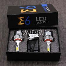UK Car LED H9 Headlight Bulbs Conversion Kit 6000K 72W 7600LM Xenon White C6