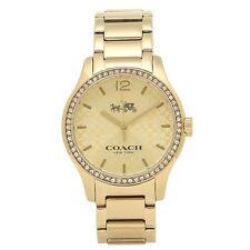 COACH Womens WATCH Maddy GOLD with CRYSTAL BEZEL LOGO W6184 /14502661 $275 New