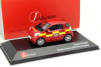 Toyota IQ Feuerwehr Essex County (UK) Baujahr 2009 rot / gelb 1:43 JCollection