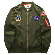 Men's Slim Fit Coat Pilot MA1 Bomber Jacket Flight Air Force Baseball Jackets