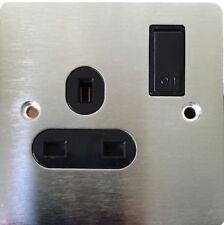 Materiales eléctricos de bricolaje enchufe de acero inoxidable
