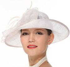Wedding Race Derby  Ladies Day Asymmetric  Asymmetric Large, Sinamay Hat White