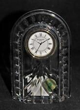 "Waterford Crystal OVERTURE Quartz Oblong Desk Clock, 5 1/4"" Tall"