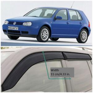 VE20499 Window Visors Sun Guard Vent Wide Deflectors For VW Golf 4 5d 1999-2005