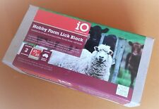 IO Hobby Farm Lick Block 2kg Mineral Supplement Beef & Dairy Cattle Horse Sheep