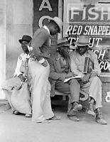 "1939 African Americans Talking, Waco, Texas Old Photo 8.5"" x 11"" Reprint"