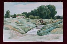 WILLIAM DICKERSON (1904-1972) RARE ORIGINAL WATERCOLOR KANSAS VERY NICE