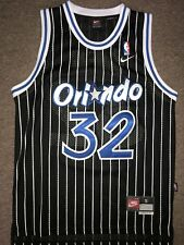 STITCHED Retro Shaquille O'Neal Orlando Magic Basketball Jersey Small Black NBA