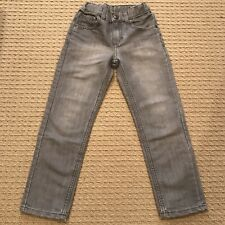 Worn Once! Sonoma Skinny Gray Distressed Jeans Girls 7 Adjustable Waist