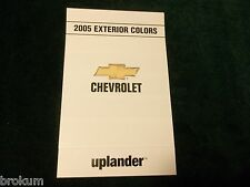 MINT 2005 CHEVROLET EXTERIOR PAINT COLORS UPLANDER NEW (BOX 712)