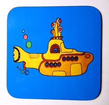 Set of four Beatles inspired Yellow Submarine coasters by artist Maria Moss