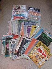 15 Piece Random Grab Bag Lot of Vintage Sheet Music Song Booklets FREE SHIPPING!