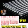 15 Types 10/12/15/20Pcs Thick Wall Borosilicate Blow Glass Blowing Tube Set N