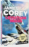 **SIGNED 1/1** Leviathan Wakes Expanse Book James SA Corey hx NEW