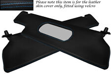 BLUE STITCH FITS RENAULT ALPINE GTA V6 2X SUN VISORS LEATHER COVERS ONLY