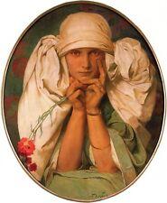 Daughter Jaroslava Art Nouveau Print Alphonse Mucha 16x11 A3 Poster NEW Portrait