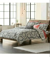 Sonoma Goods for Life Pembrook Reversible Comforter Set Full/Queen Floral Gray