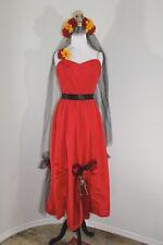 Day Of The Dead Spanish Senorita Skull Ghost Halloween VTG Costume Dress Size 12