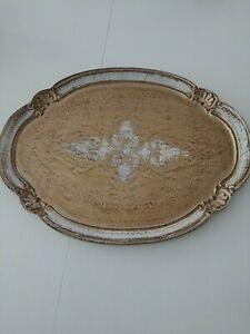 Decorative Wooden Tray Hardly Used