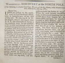 1792 MASSACHUSETTS MAGAZINE ~ BENJAMIN FRANKLIN SLAVERY DISCOVERY AT NORTH POLE