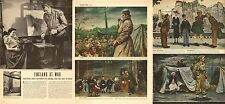 1944 WW2 Art Article ENGLAND at WAR  5 great paintings by Floyd Davis  030317