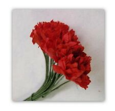 20 8MM RED GYPSO FLOWERS  FOR CARDS OR CRAFTS
