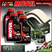 Oil Replacemenet Kit MOTUL 7100 10W40 + Filters Kawasaki ZX-10R 1000 Ninja 2004