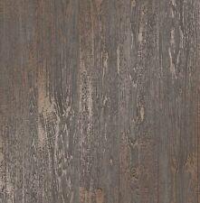 Brillo metálico Bronce Cobre Panel de Madera de Nogal Wallpaper Fine Decor FD41959