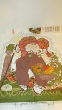 Vintage 1983 CABBAGE PATCH KIDS Cotton Fabric Panel Doll Pillow red hair harvest