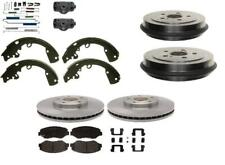 Corolla Prizm 1993-1997 Brake Disc Rotors Pads Drums Shoes Cylinders Springs