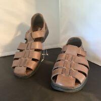 Cobbie Cuddlers Brown Leather Shoes Sandals Size 6 Wide Elsa