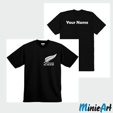 All Blacks Rugby New Zealand T-Shirt with your name Shirt Men Haka Cotton