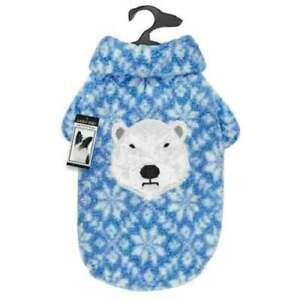 Zack & Zoey® Elements Blue Polar Bear Berber Dog Puppy Jacket Coat XX-Small