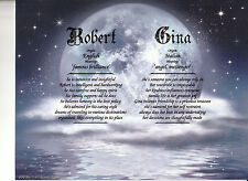 """""""Moonlit Night"""" Double Name Meaning Print Personalized (Love Romance)"""