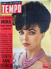 TEMPO n°4 1961 Joan Collins - Mina vuole vincere Sanremo -  [C87]