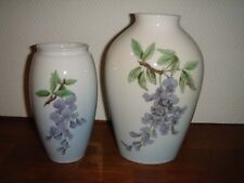 Pair of Floral vases # 72-254 & # 62-239 Bing & Grondahl Royal Copenhagen Fact 1