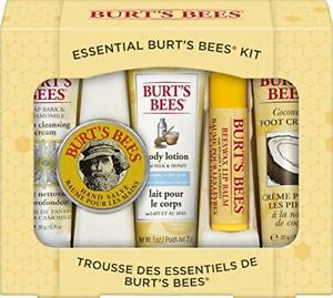 2 pack Burt's Bees Essential Gift Set, 5 Travel Size Products (Beatup Box) De...