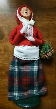 Byers Choice Christmas Carolers 1990 Lady W/ Basket and Red Hat