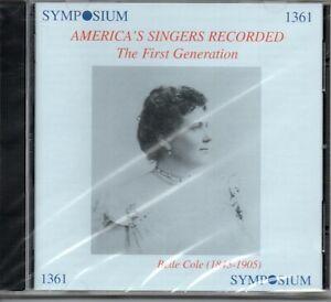 AMERICA'S SINGERS RECORDED - COLE - ADINI - BISPHAM - NORDICA - ETC - 24 TRACKS