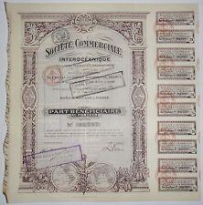Société commerciale Interocéanique part du bénéficiaire 1916