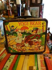 Vintage Yogi Bear and Friends Metal Lunch Box Aladdin 1963