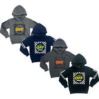 Boys Kids Jumper Hoodie Hooded Sweatshirt Top Fleece Winter Warm Pullover